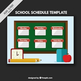 School timetable in geometric style