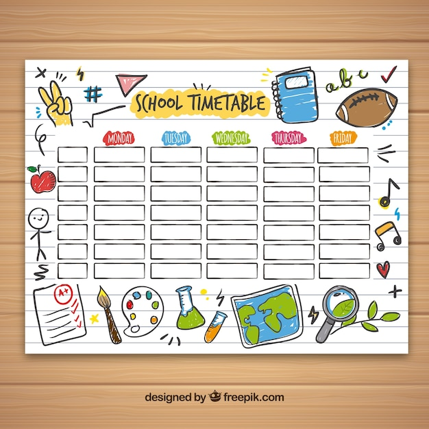Timetable Vectors, Photos and PSD files | Free Download