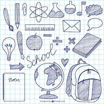School vector ink elements