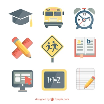 School vector set free download