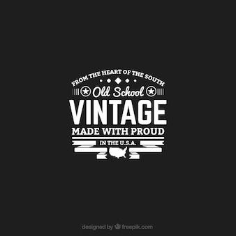 School vintage logo