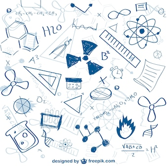 Science doodle pattern