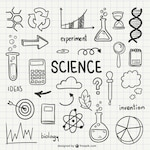Science drawn icons