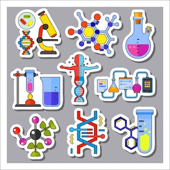 Science labels collection