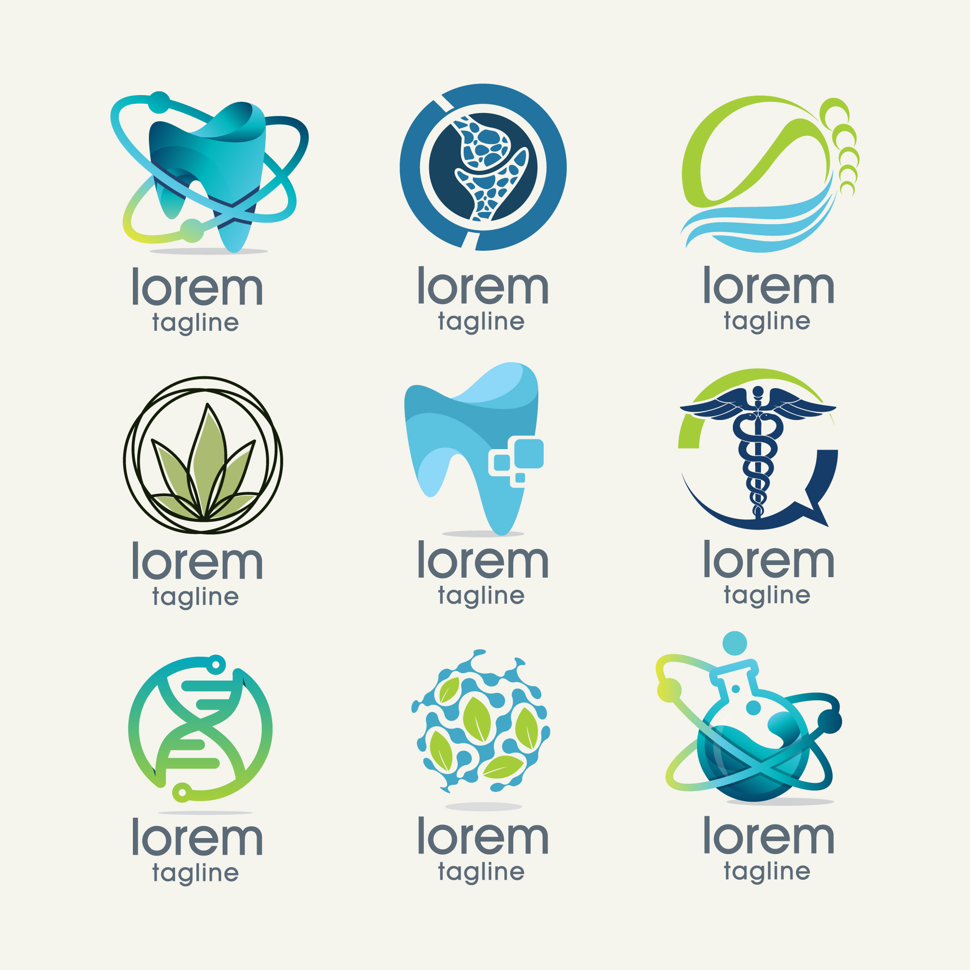 Science logo templates collection