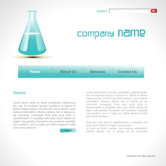 Science web template