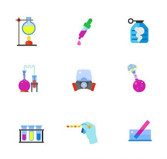 Scientific icons collection