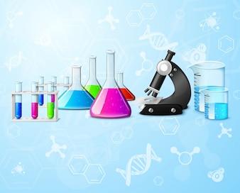 Scientific laboratory background