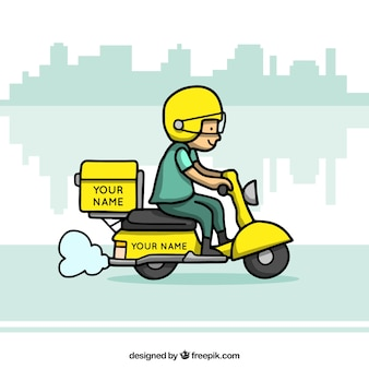 Scooter delivery with fun style