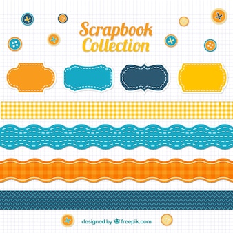 Scrapbook accessories in vintage style