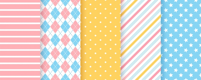 Scrapbook background. seamless pattern.   illustration. geometric prints.