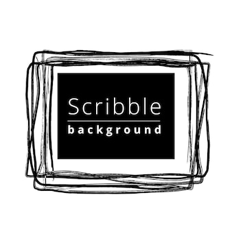 Scribble background frame concept