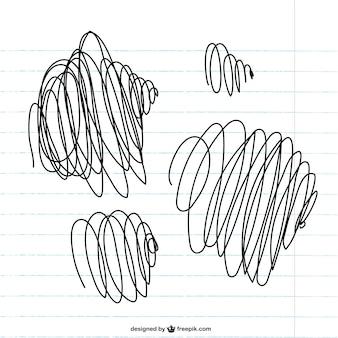 Scribbles on paper vector