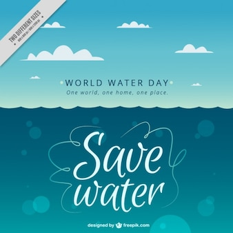 Sea background for World Water Day