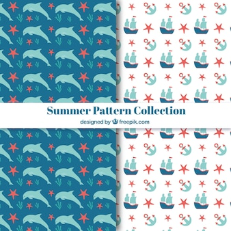 Sea elements pattern collection