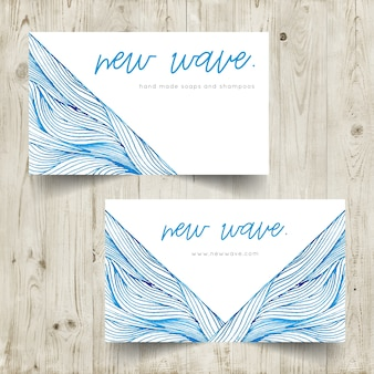 Sea themed business card template