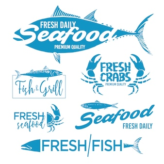Seafood labels collection