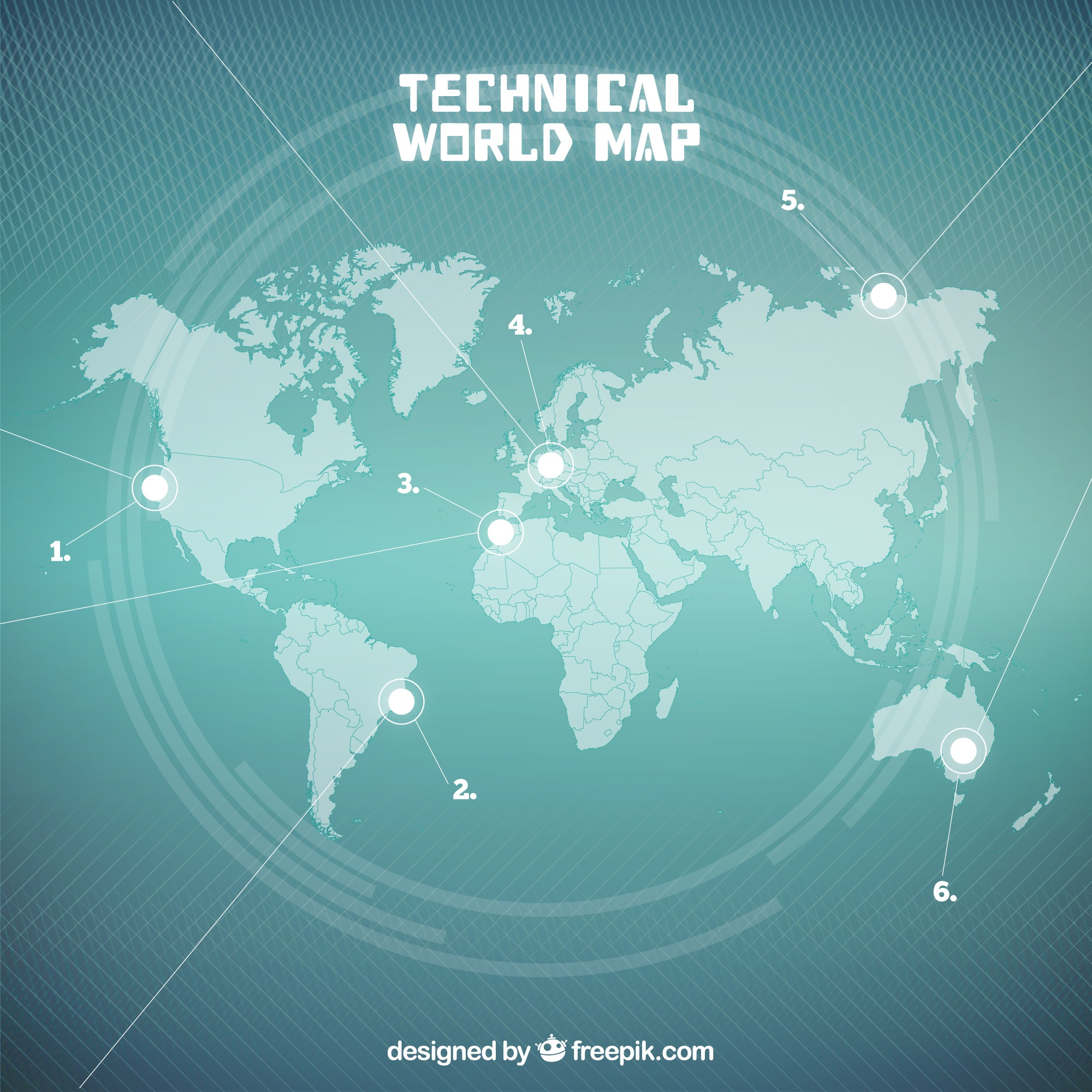 Seagreen Technical World Map