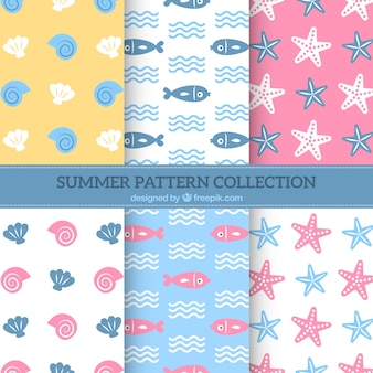 Sealife pattern background collection