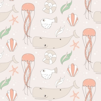 Sealife pattern design