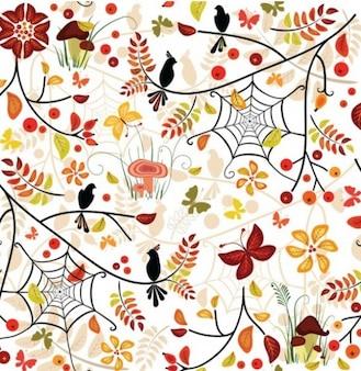 seamless autumn pattern illustrator vector