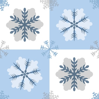 Seamless blue snowflakes pattern background