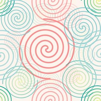 シームレスなカラフルな抽象的な渦パターンの背景