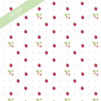 Seamless cute strawberry pattern.