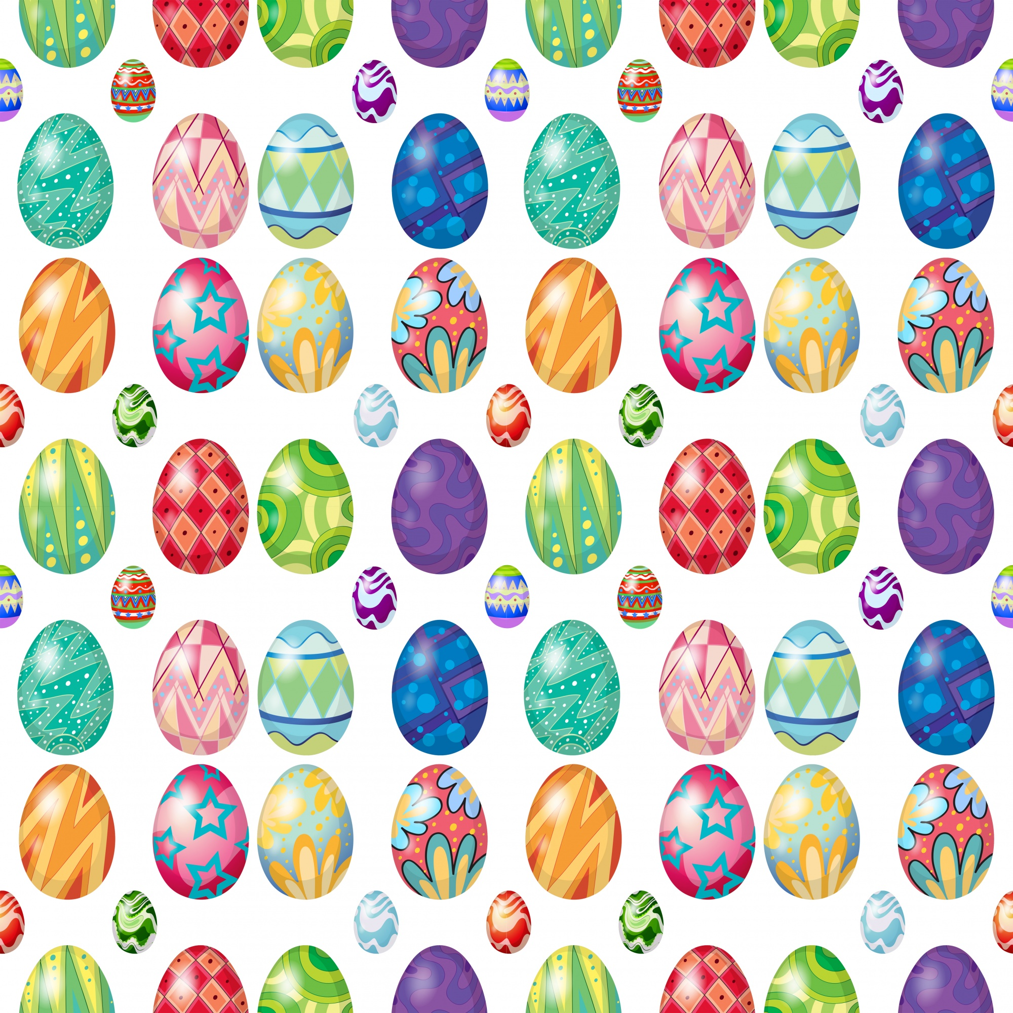 Seamless design with Easter eggs