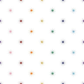 Seamless  gold glitter star pattern on black background
