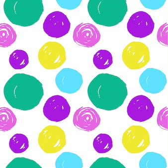 Seamless pattern with circular elements in different colors