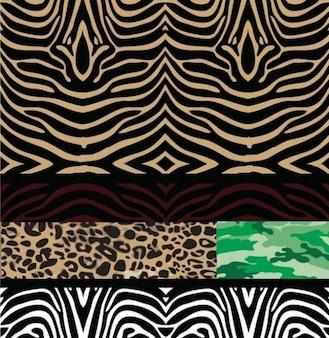 Seamless patterns wild animal backgrounds