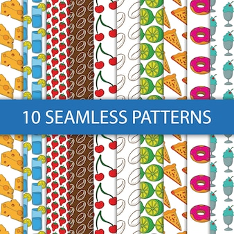 Seamless patterns with food