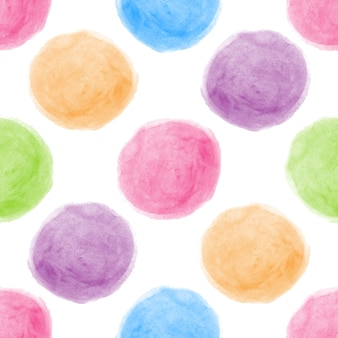 Seamless watercolor dot background.