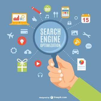 検索エンジン最適化の概念ベクトル