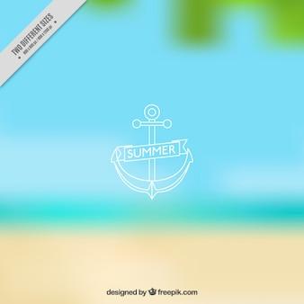Seashore unfocused background