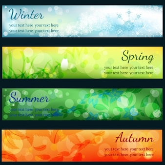Seasonal banners collection