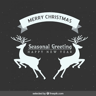 Seasonal deers Christmas greeting
