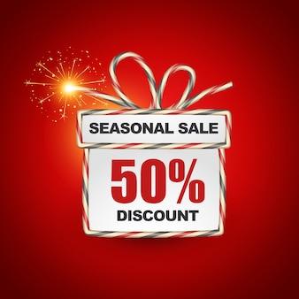 этикетка сезонной продажи