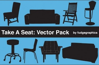 Seat silhouettes office home furniture set
