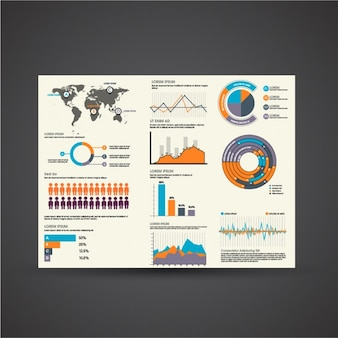 Selection of business items for infographics