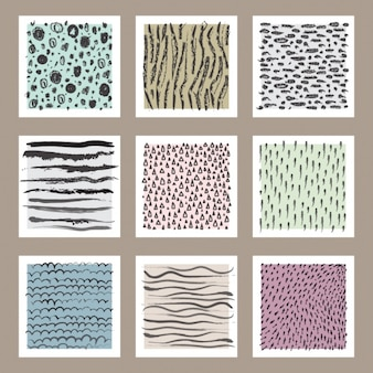 Selection of cards with abstract designs