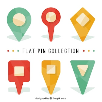 Selection of flat pointers with geometric designs