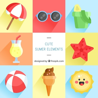 Selection of flat summer objects