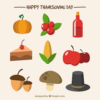 Selection of flat thanksgiving elements