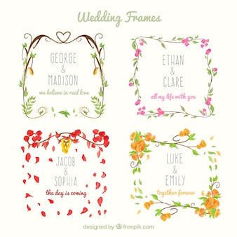 Selection of four decorative wedding frames