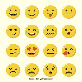 Selection of funny emoticons