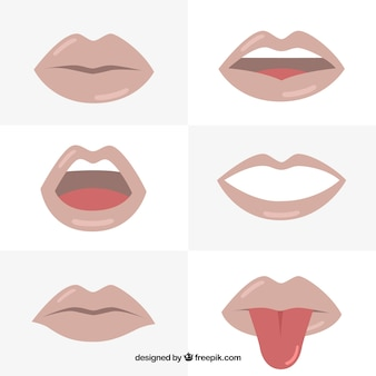 Selection of glossy lips