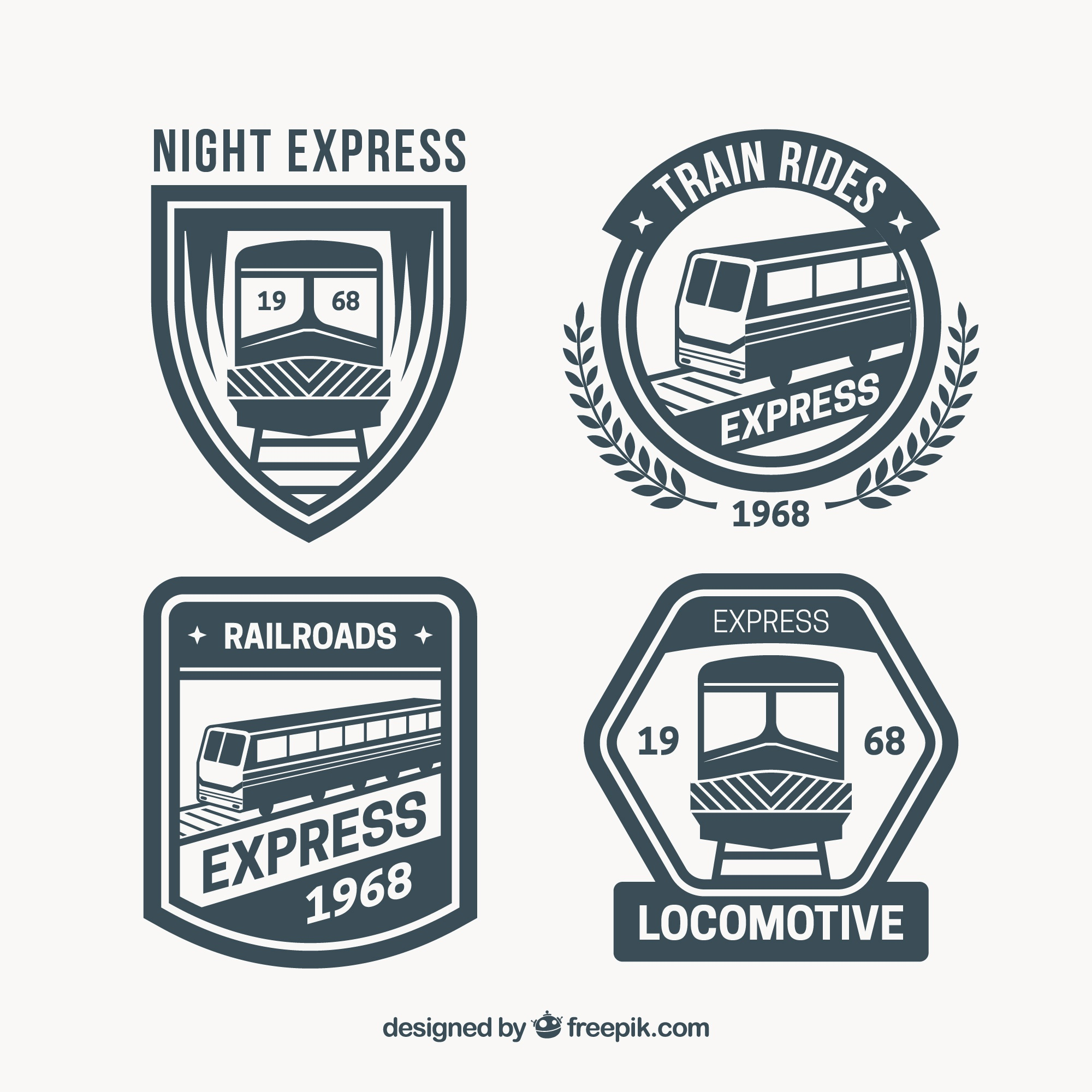Selection of great train logos