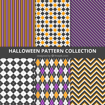 Selection of halloween patterns with different shapes